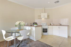 Private kitchen at Japara The Homestead Walkley Heights aged care home