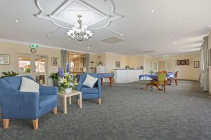Living room at Japara The Homestead Walkley Heights aged care home
