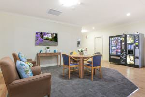 Dining room at Japara The Homestead Walkley Heights aged care home