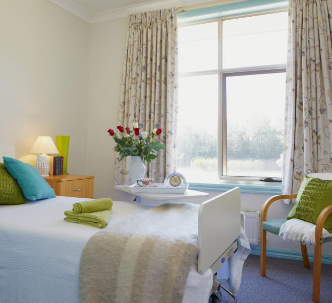 Bedroom at Japara Viewhills Manor aged care home
