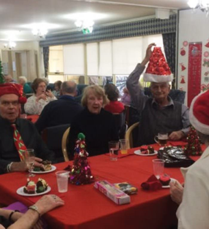 Balmoral Grove residents enjoying Christmas in July