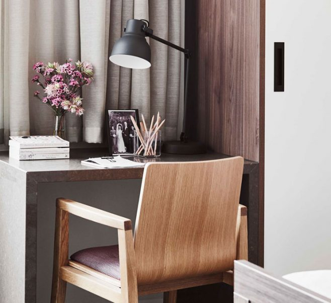 Desk and chair at Japara The Highbury aged care home