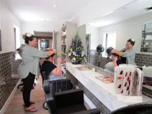 Japara hairdressers Katie and Catrina in their new salon