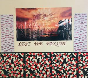 'Lest we forget' poster in remembrance of the anzacs