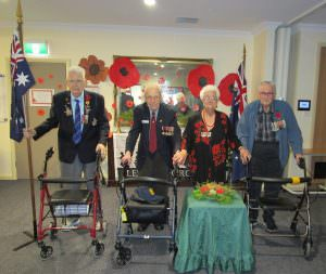 residents Clem, Gabriel and Irene who laid the wreath