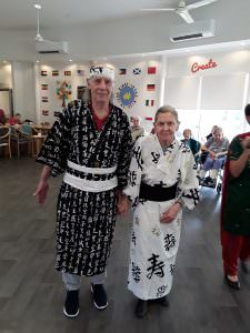 A couple St Judes residents getting into the spirit of Harmony Day