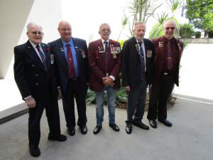 RSL branch members celebrating Anzac day