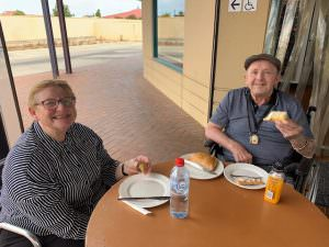 Residents enjoying a pastry at The Homestead