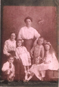 Margaret and her family when she was a young girl