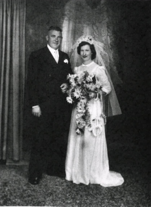 Margaret and Bill at their wedding