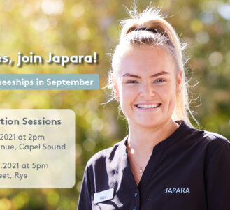 Aged care traineeships at Japara - find out more about working in aged care at our free information sessions