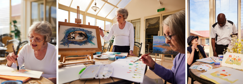 How art therapy helps the elderly - teaching others a new skill